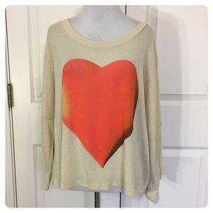 NWT! Wildfox Vintage Heart tee - sweatshirt